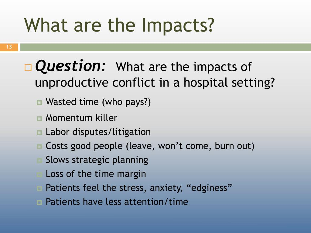What are the Impacts?
