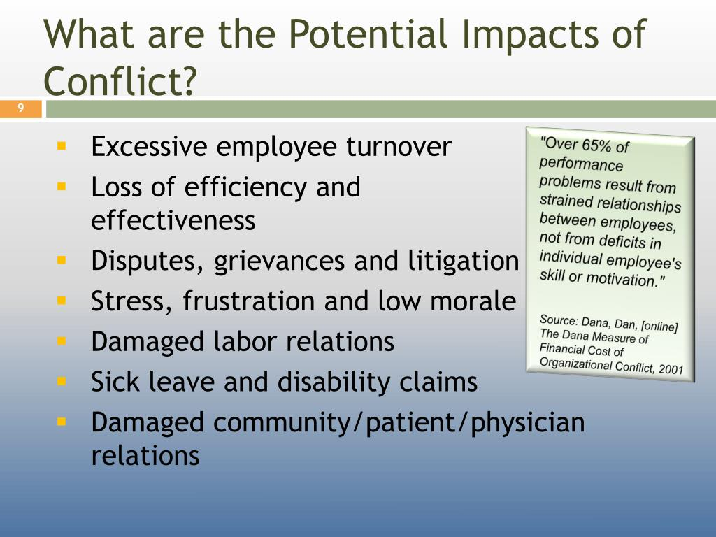 What are the Potential Impacts of Conflict?