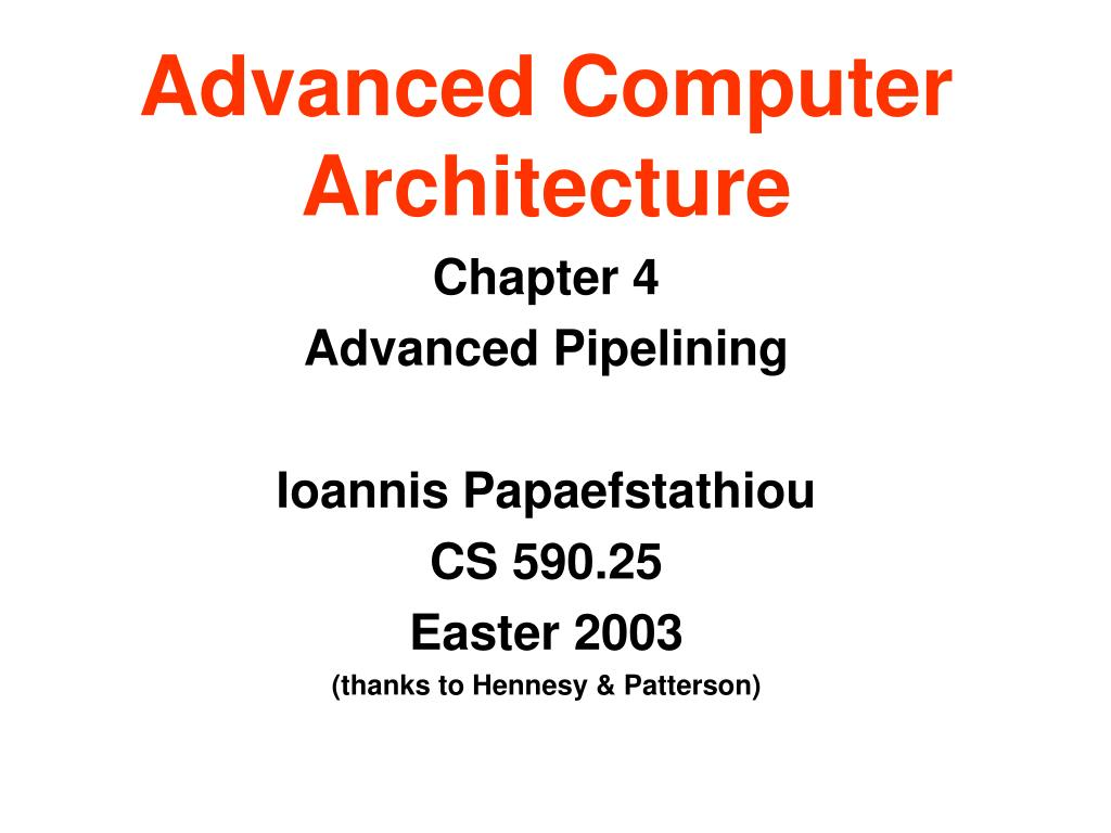advanced computer architecture l.