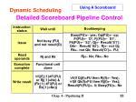 detailed scoreboard pipeline control