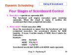 four stages of scoreboard control30