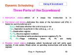 three parts of the scoreboard