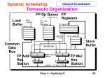 tomasulo organization