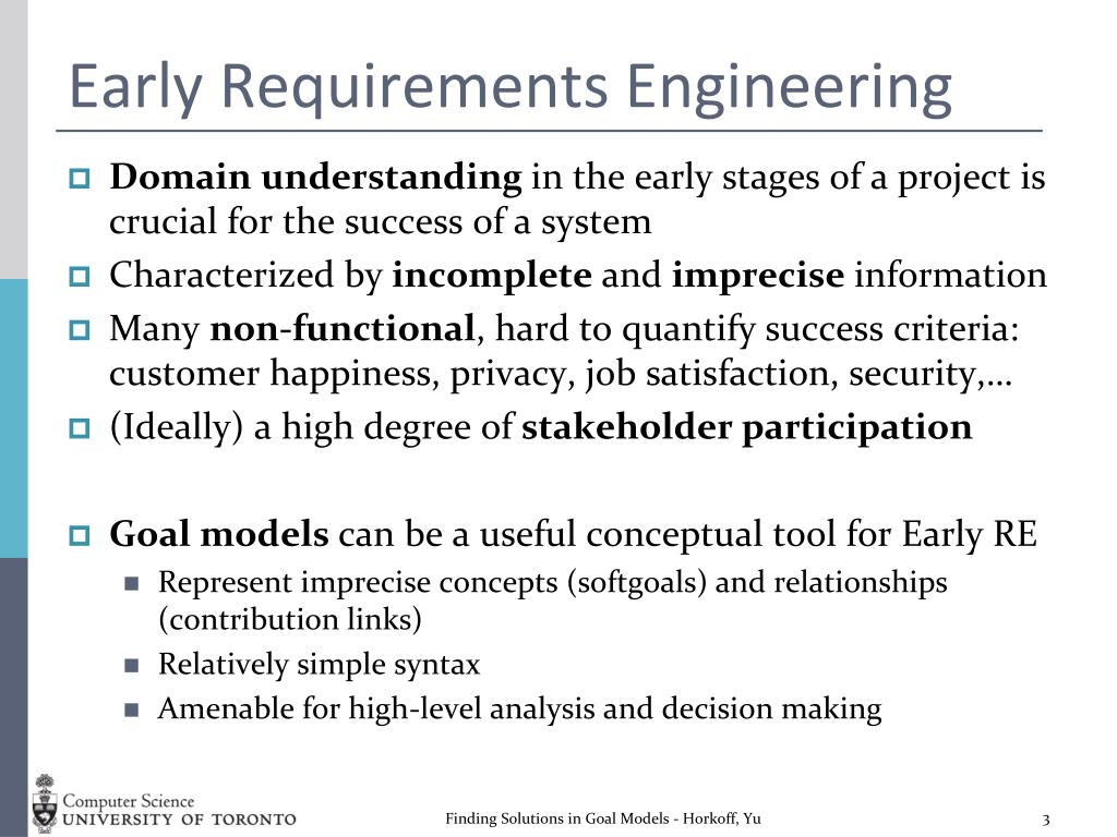 Early Requirements Engineering