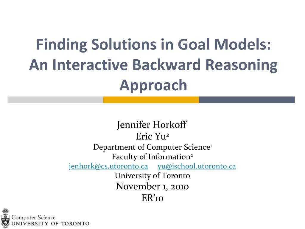 Finding Solutions in Goal Models:  An Interactive Backward Reasoning Approach