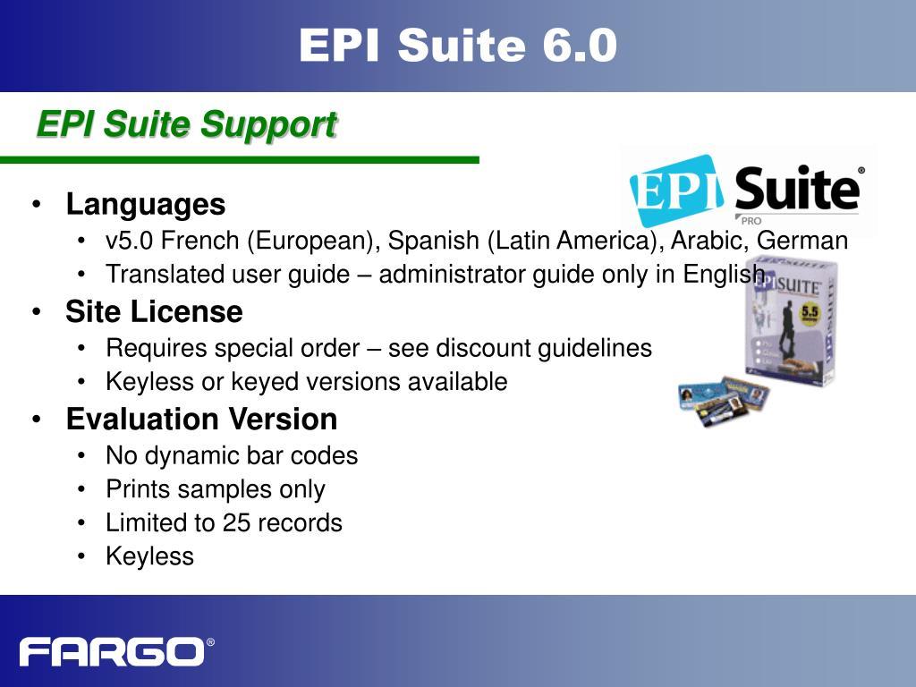 EPI Suite Support