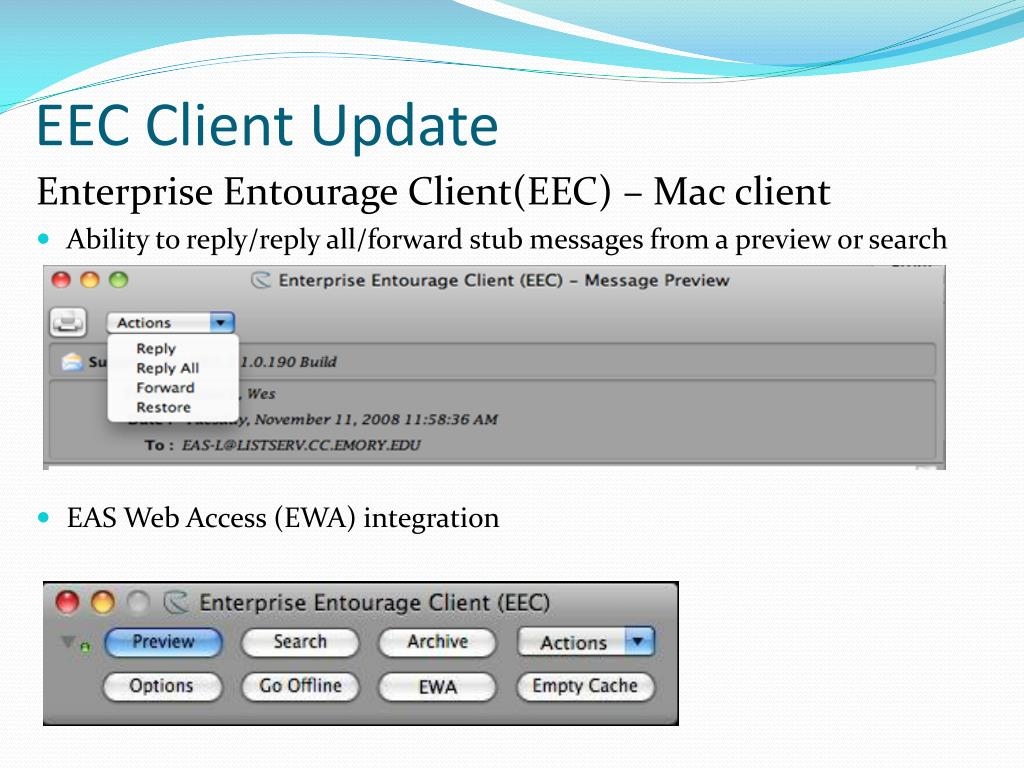 Enterprise Entourage Client(EEC