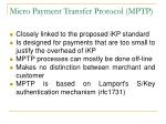 micro payment transfer protocol mptp