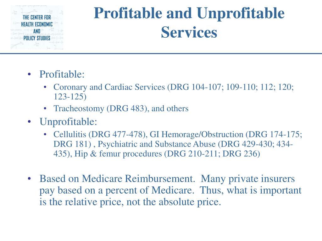 Profitable and Unprofitable Services