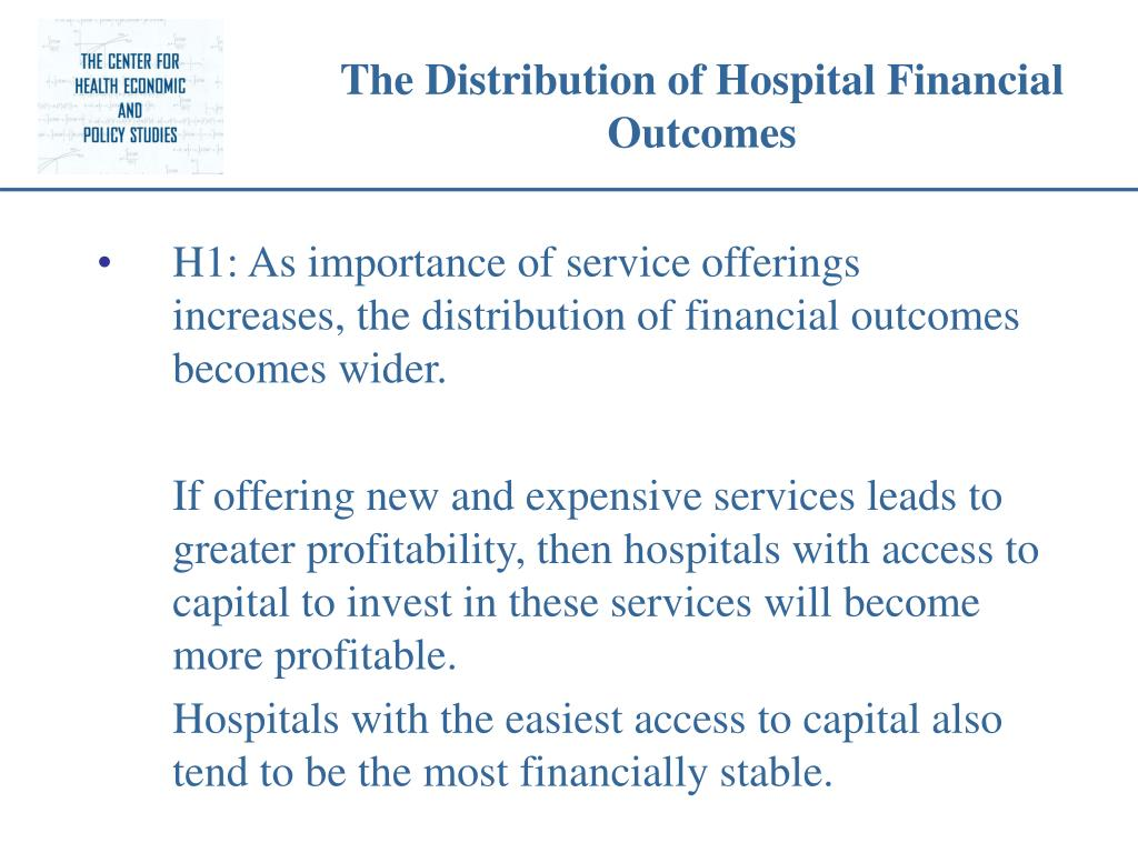 The Distribution of Hospital Financial Outcomes