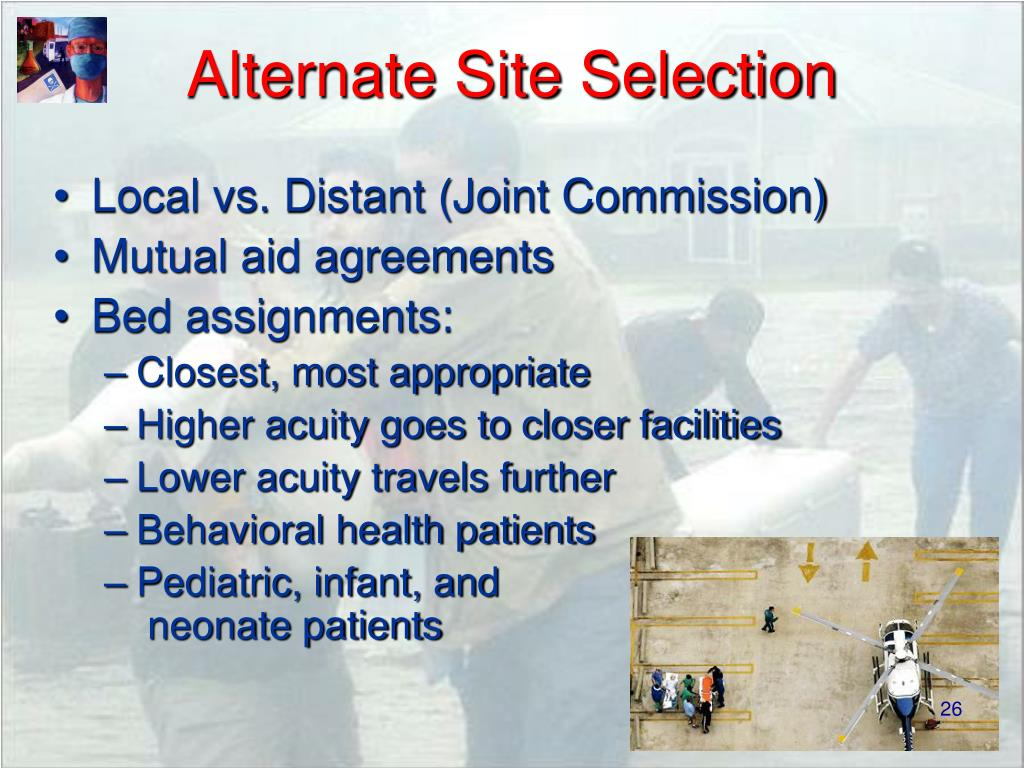 Alternate Site Selection