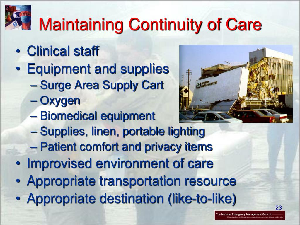 Maintaining Continuity of Care