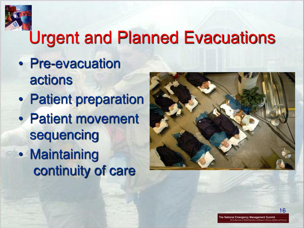 Urgent and Planned Evacuations