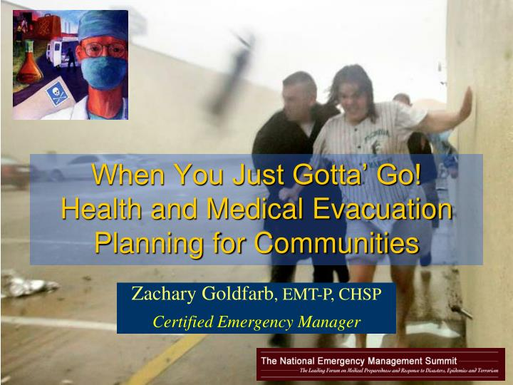 When you just gotta go health and medical evacuation planning for communities