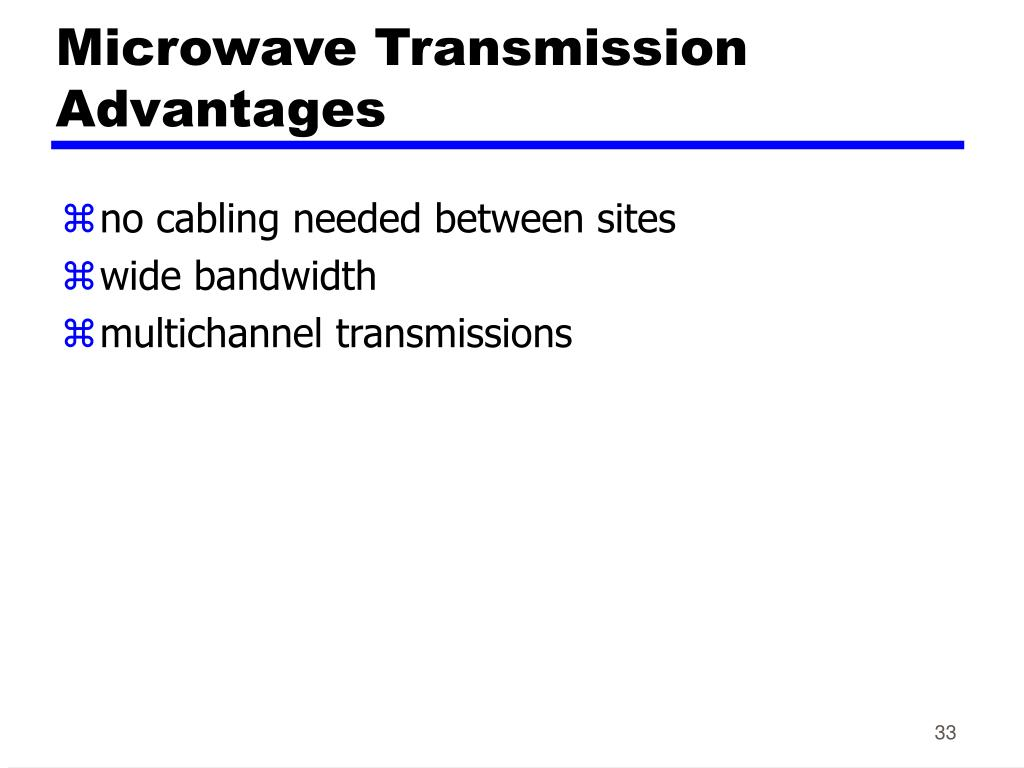 Microwave Transmission Advantages