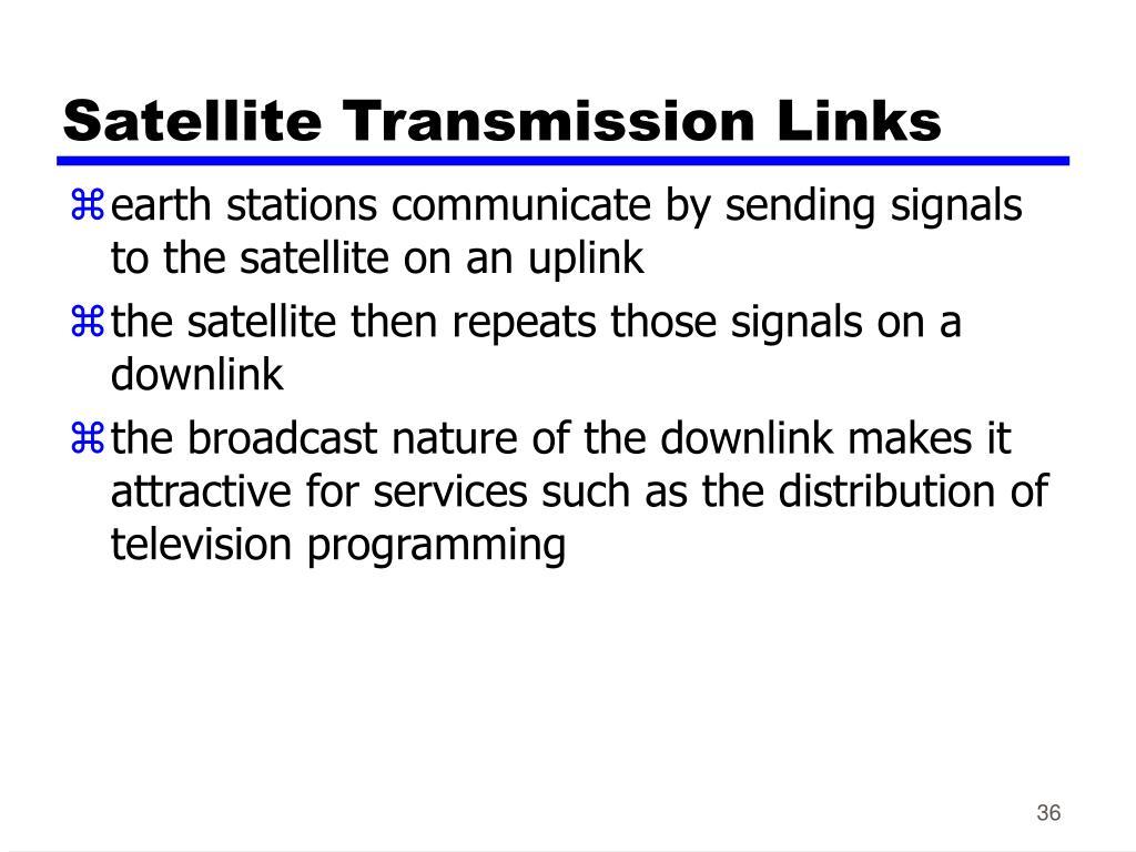 Satellite Transmission Links