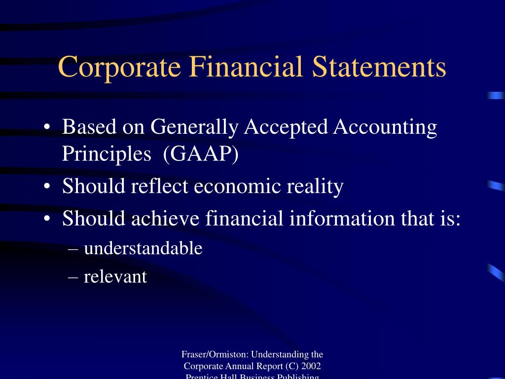 Corporate Financial Statements