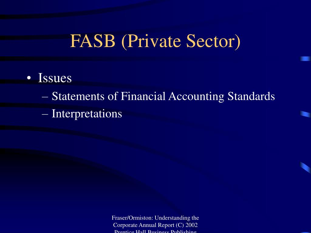 FASB (Private Sector)