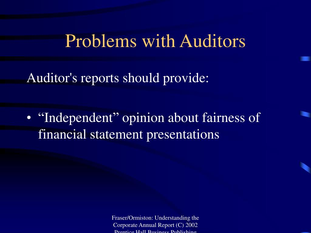 Problems with Auditors