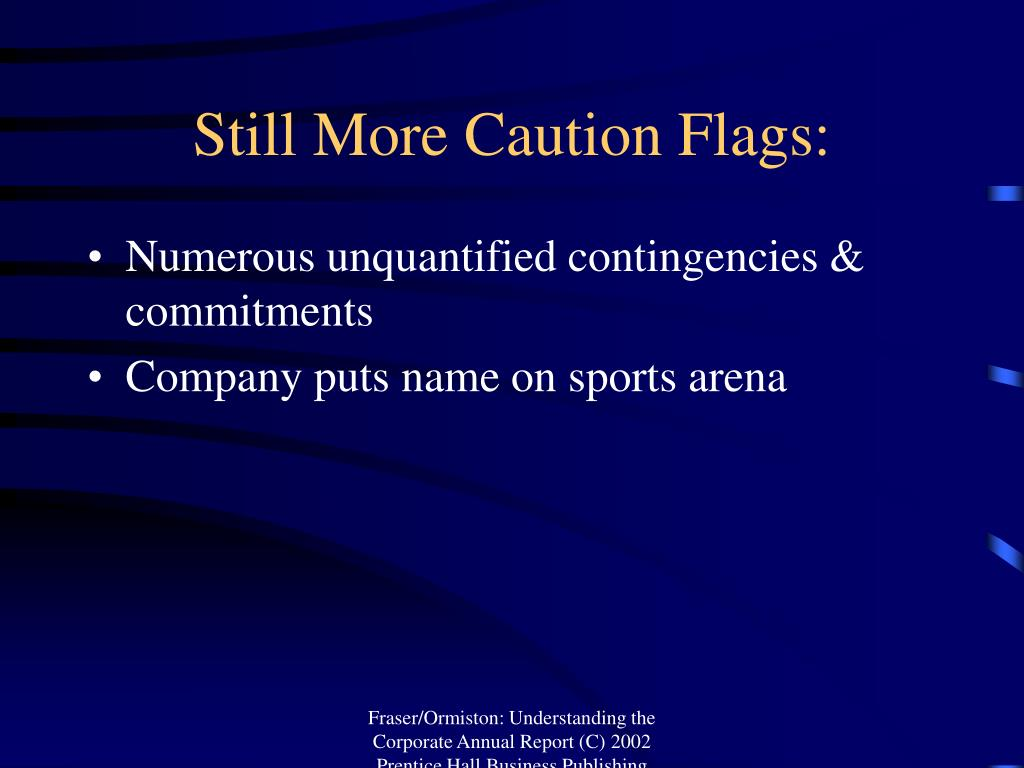 Still More Caution Flags: