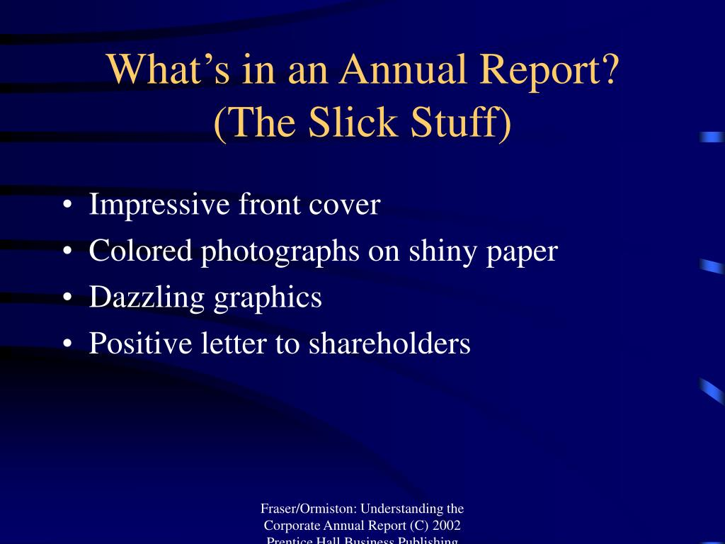 What's in an Annual Report?