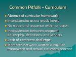 common pitfalls curriculum