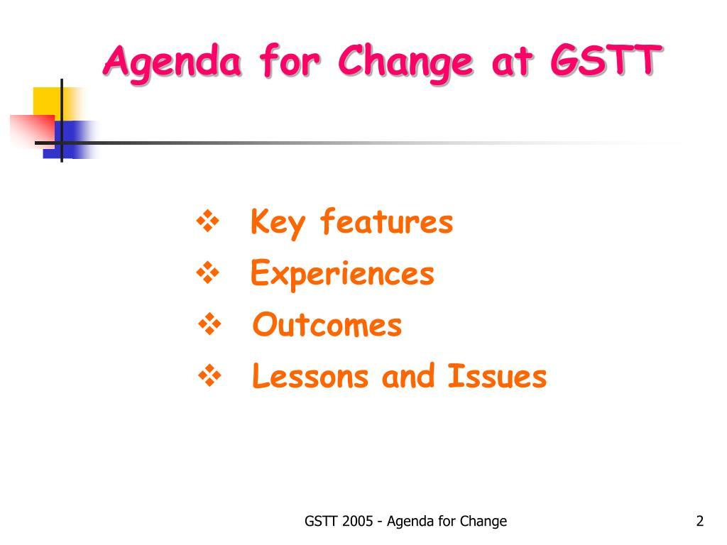 Agenda for Change at GSTT