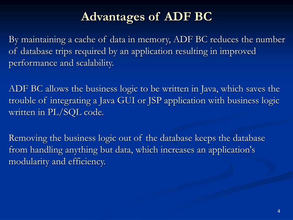 Advantages of ADF BC
