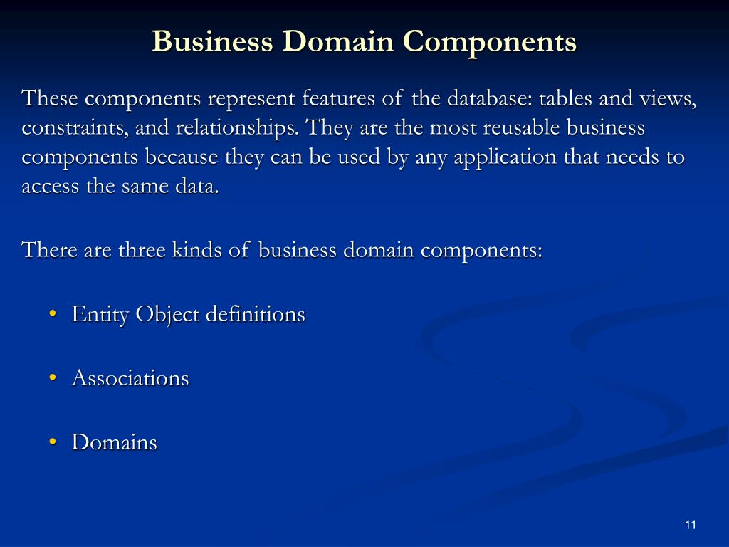 Business Domain Components