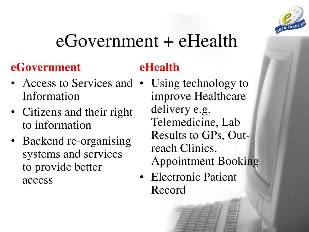 eGovernment + eHealth