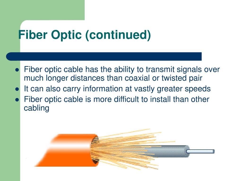 Fiber Optic (continued)