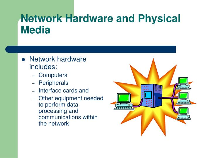 Network hardware and physical media
