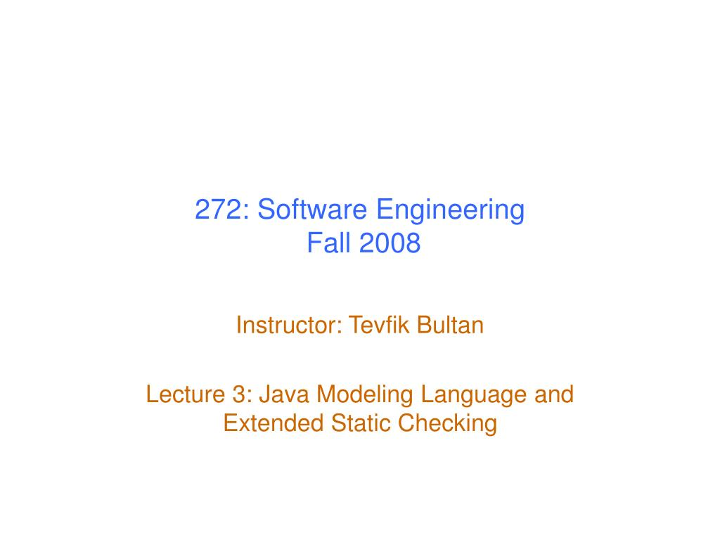 272: Software Engineering