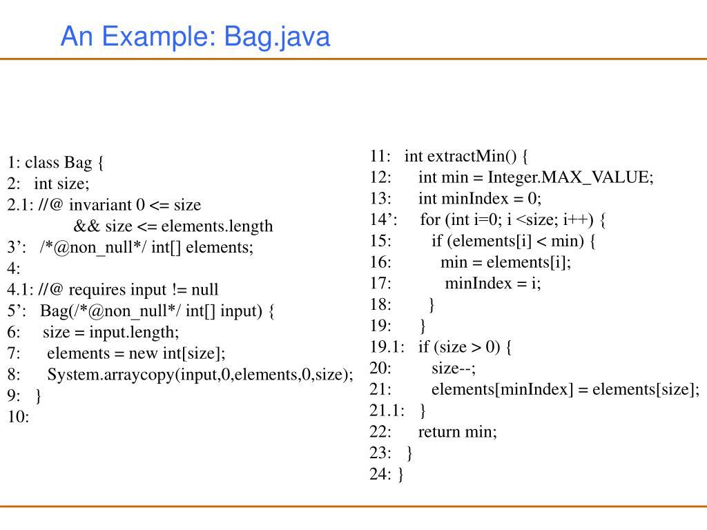 An Example: Bag.java