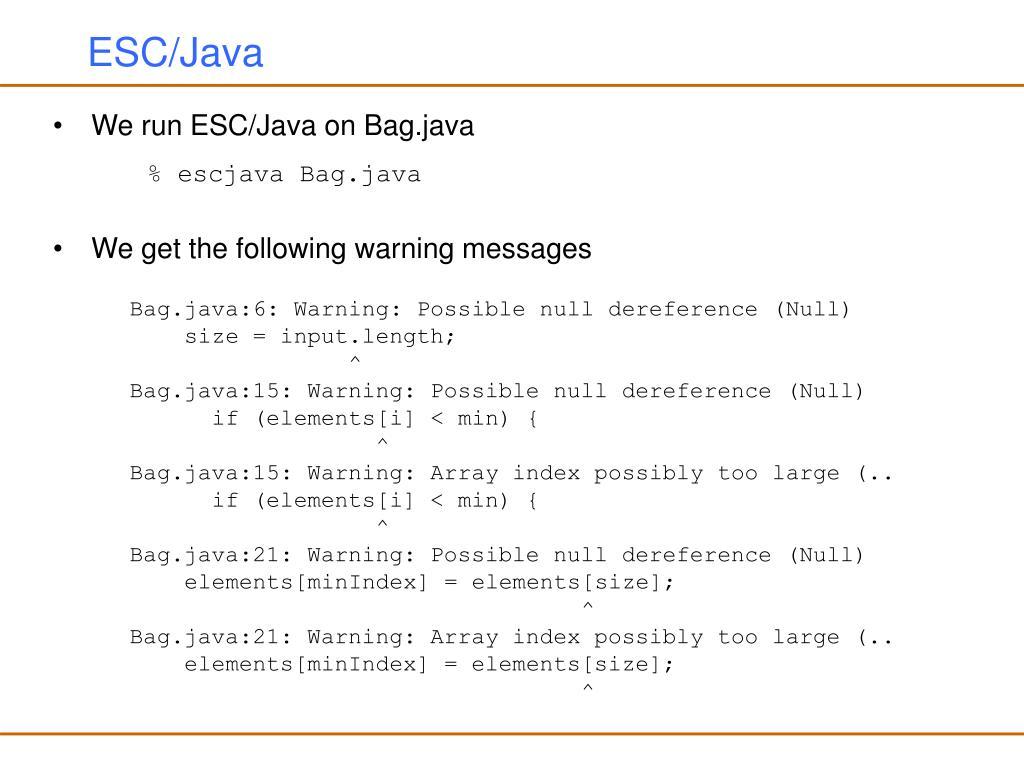 ESC/Java