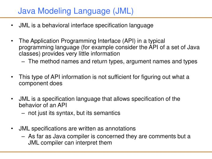 Java modeling language jml