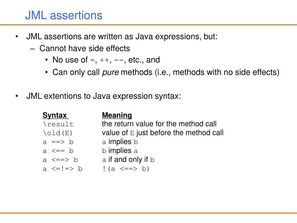 JML assertions