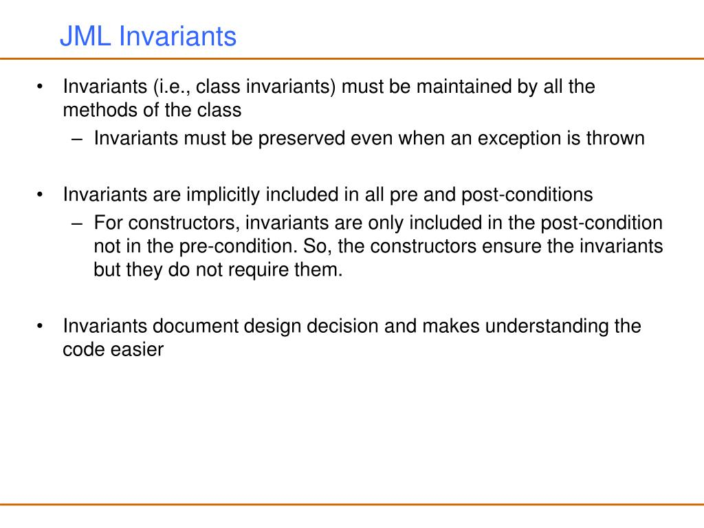 JML Invariants