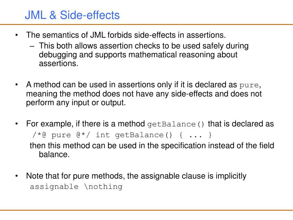 JML & Side-effects