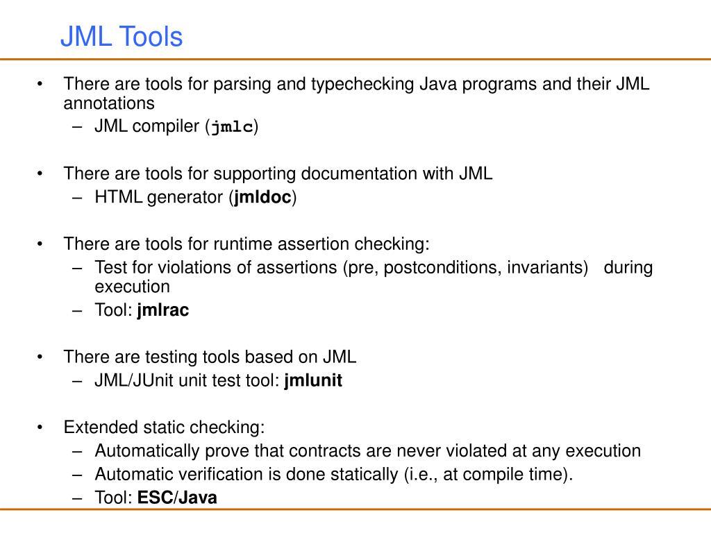 JML Tools