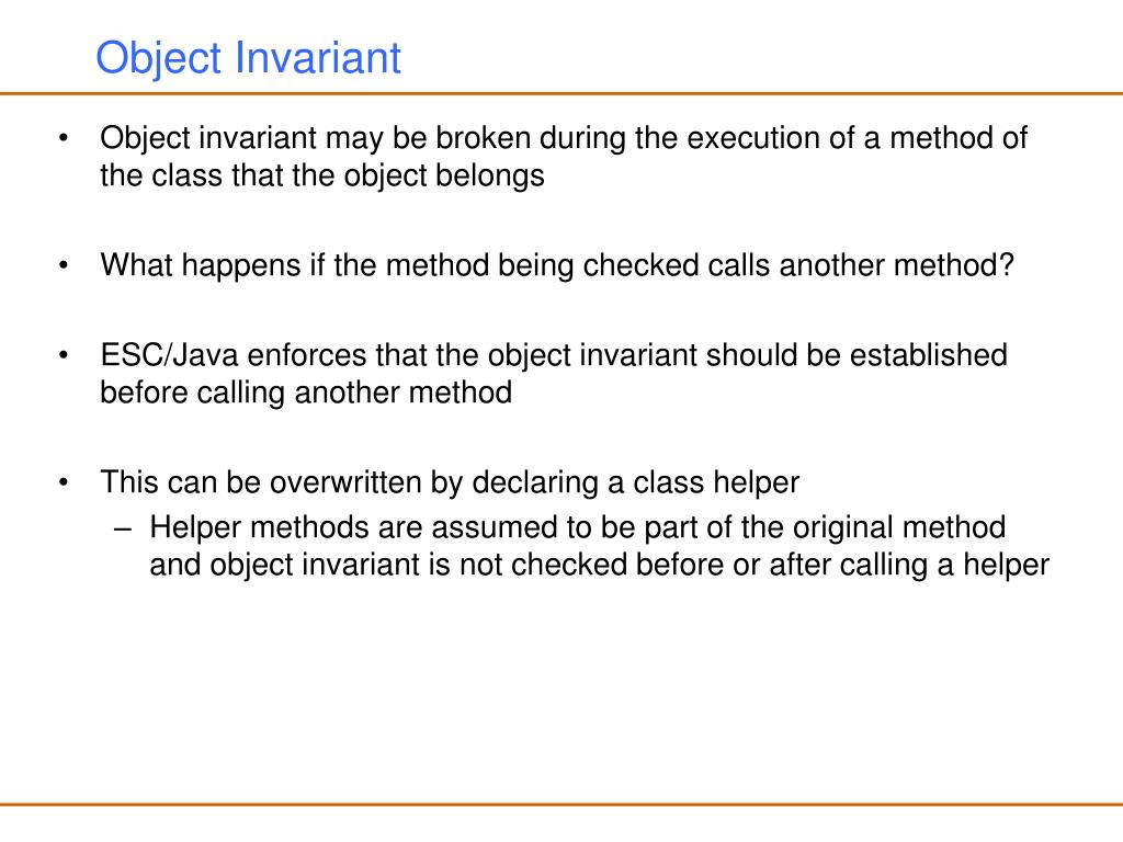Object Invariant
