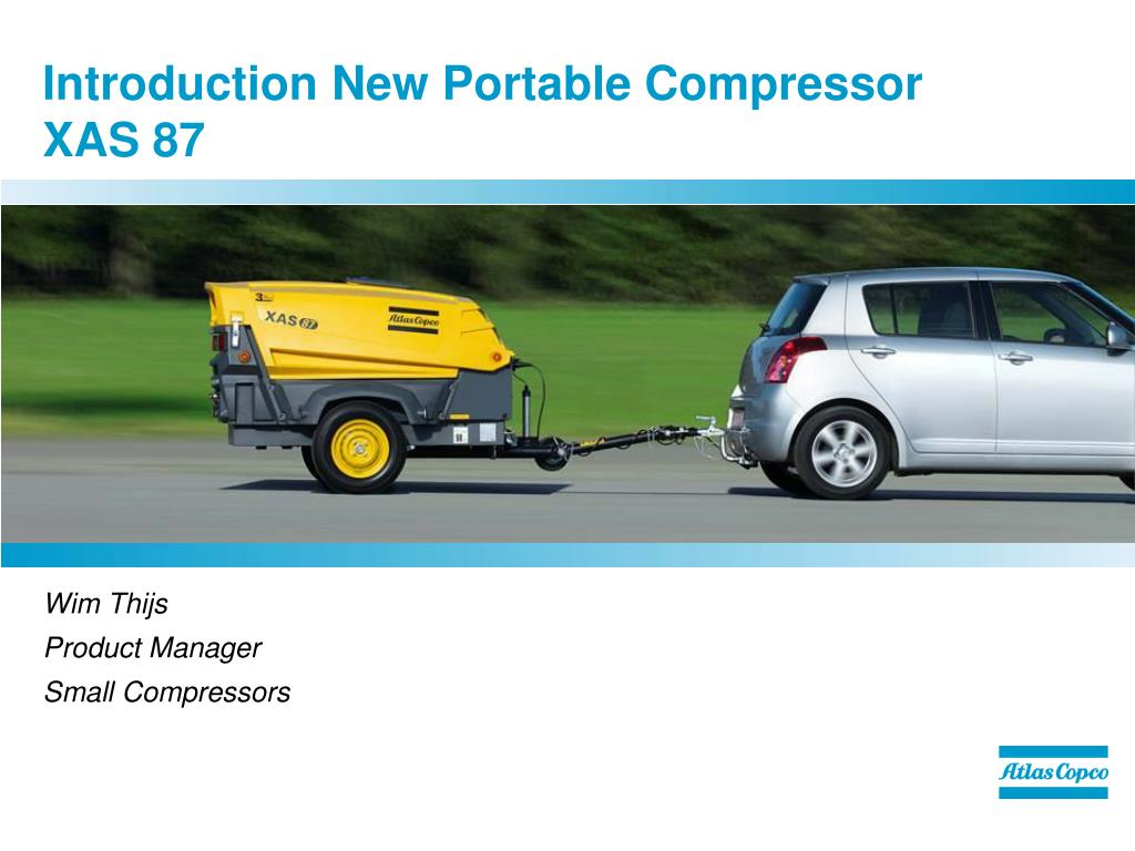 introduction new portable compressor xas 87 l.
