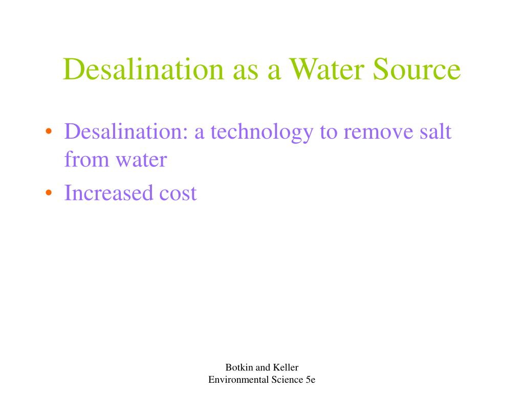 Desalination as a Water Source
