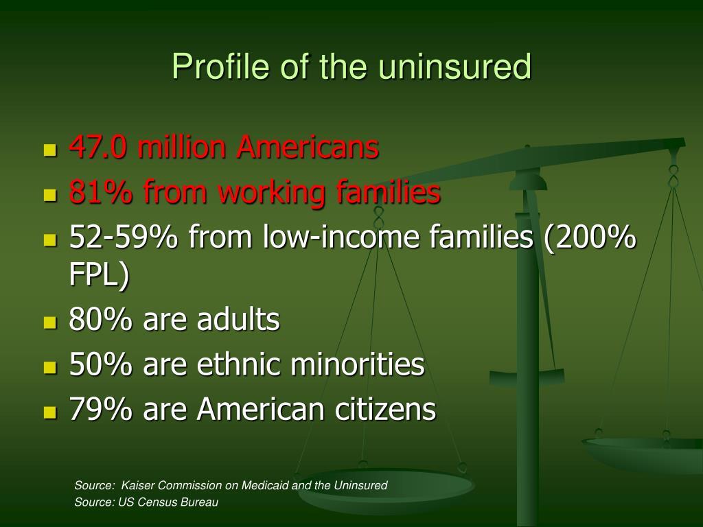 Profile of the uninsured