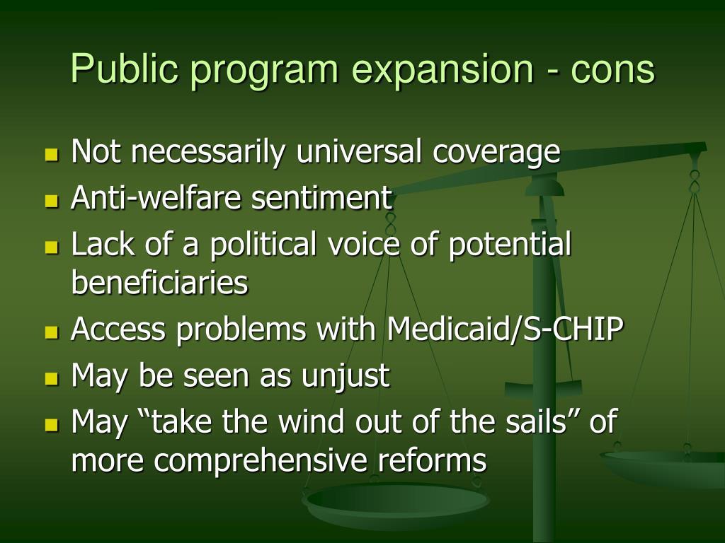 Public program expansion - cons