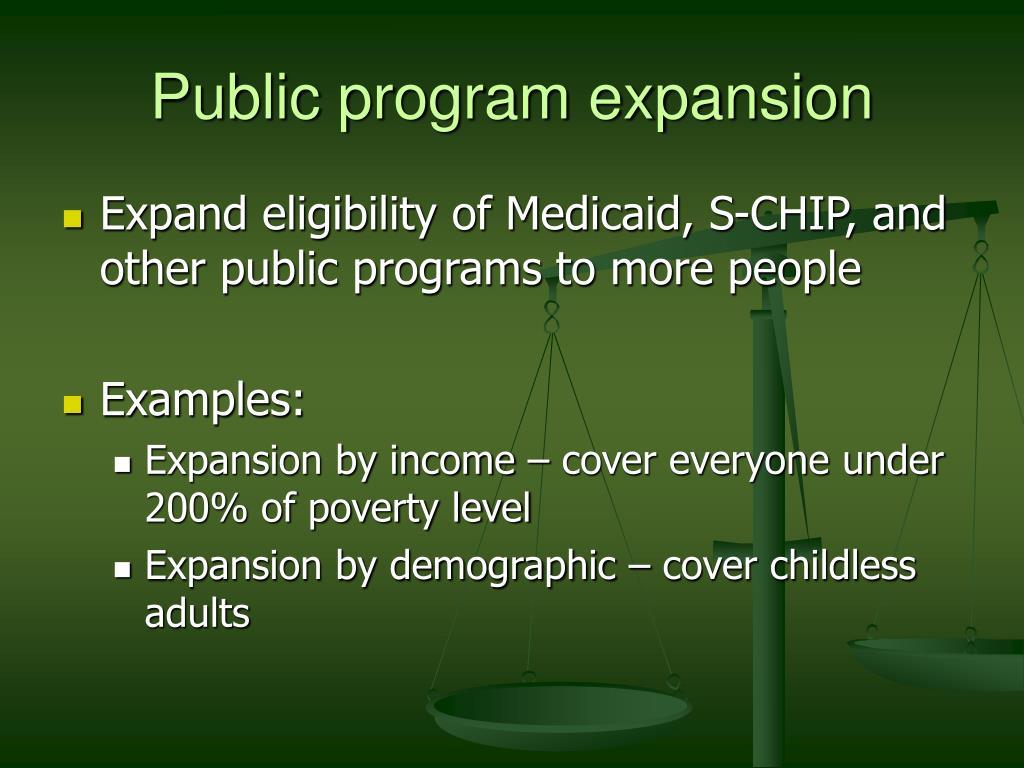 Public program expansion