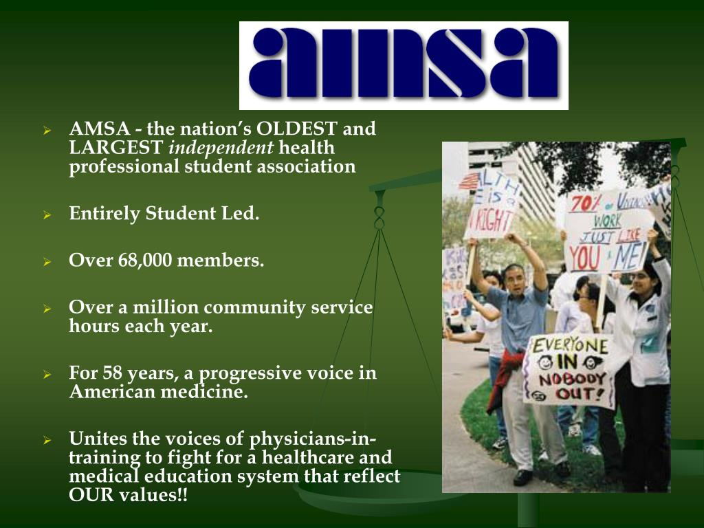 AMSA - the nation's OLDEST and LARGEST