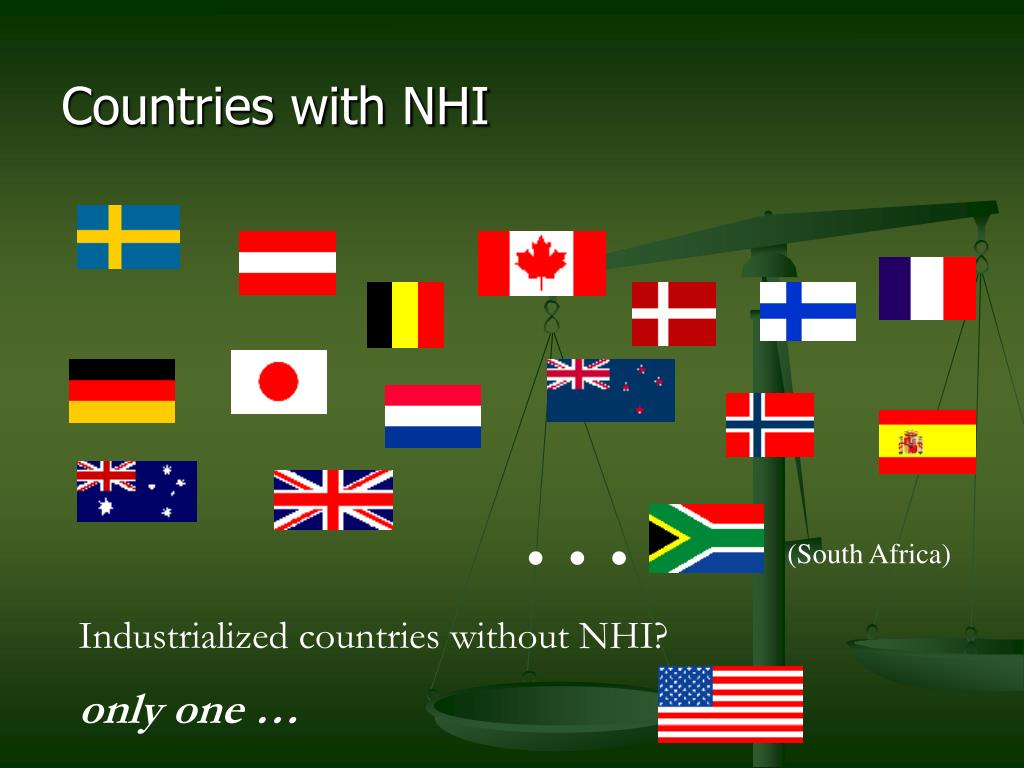 Countries with NHI