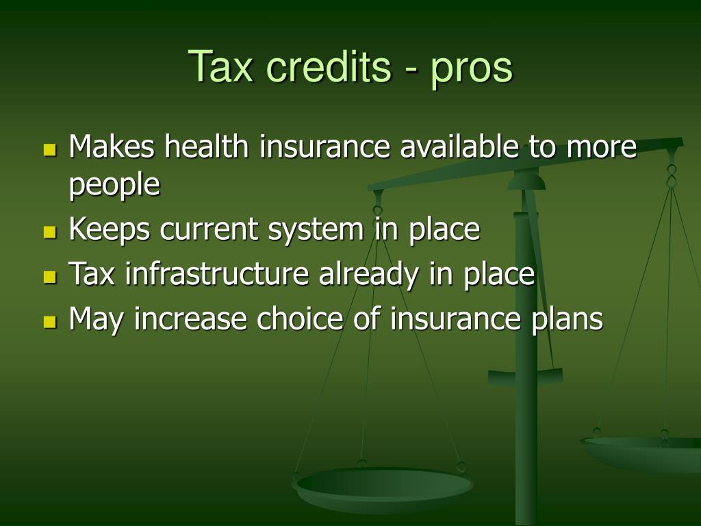 Tax credits - pros