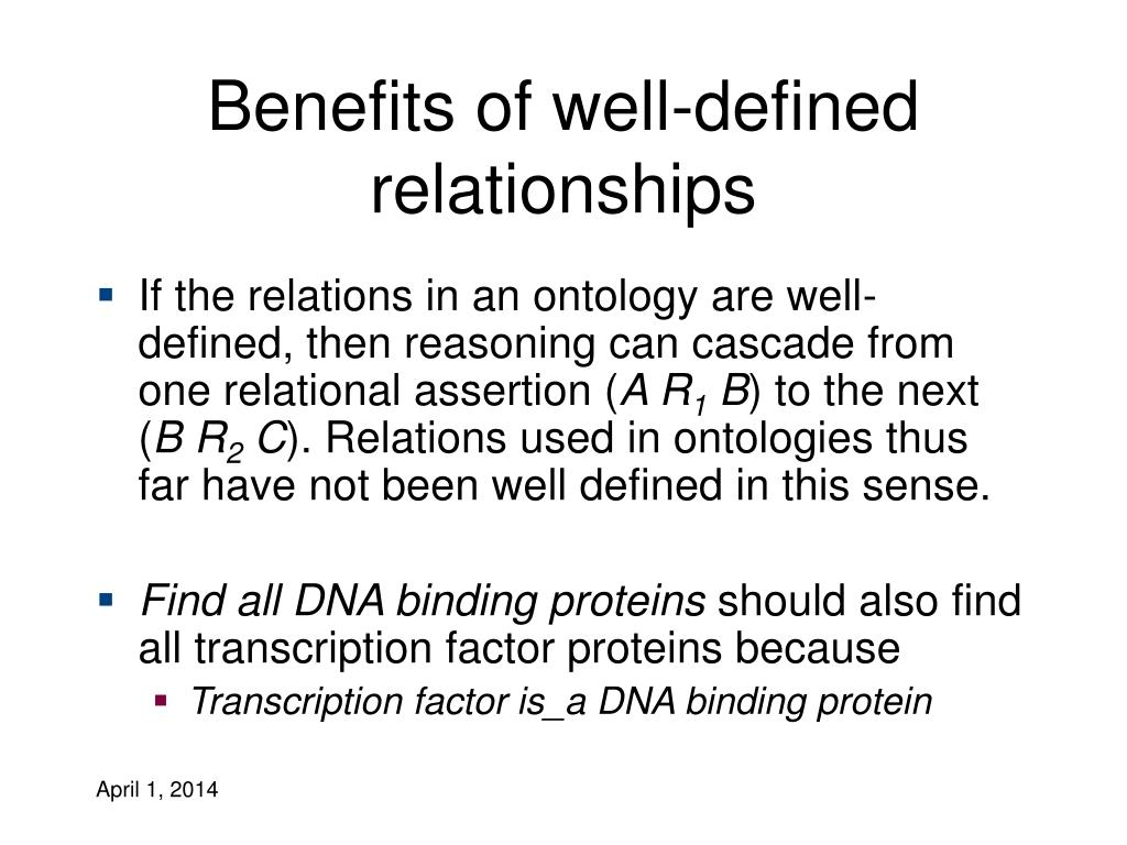 Benefits of well-defined relationships